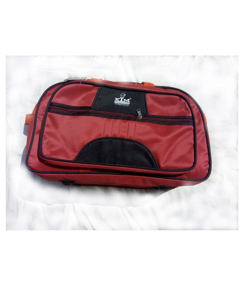 Kim Bag House Red Printed L Duffle Bag