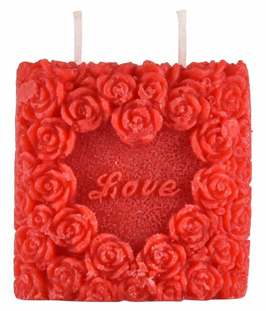 SOHUM CANDLE Red Wax Tea Light - Pack of 2