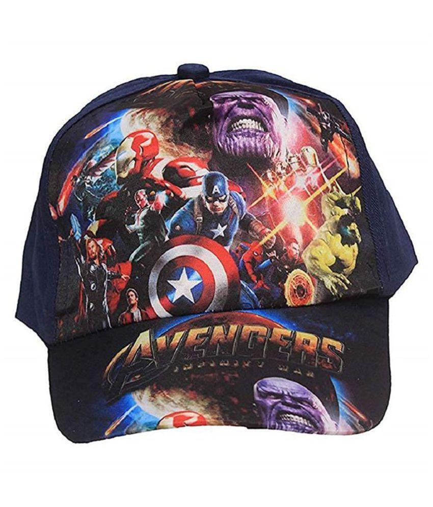 Gifthouse Girl's and Boy's Cotton Unicorn, Spiderman Frozen Avengers caps (Multicolour)