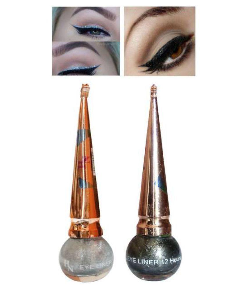 H&N Liquid Eyeliner Silver Pack of 2 10ml mL