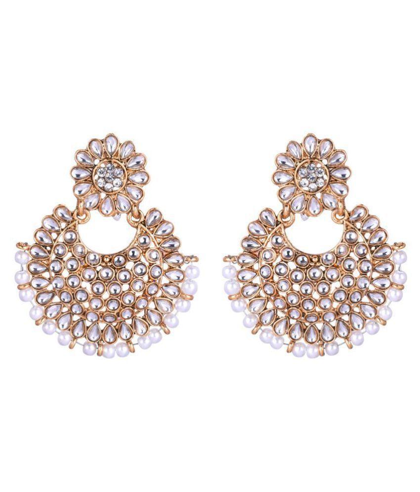 Jaishree Jewels Ethnic Kundan Earings with MaangTikka for Women