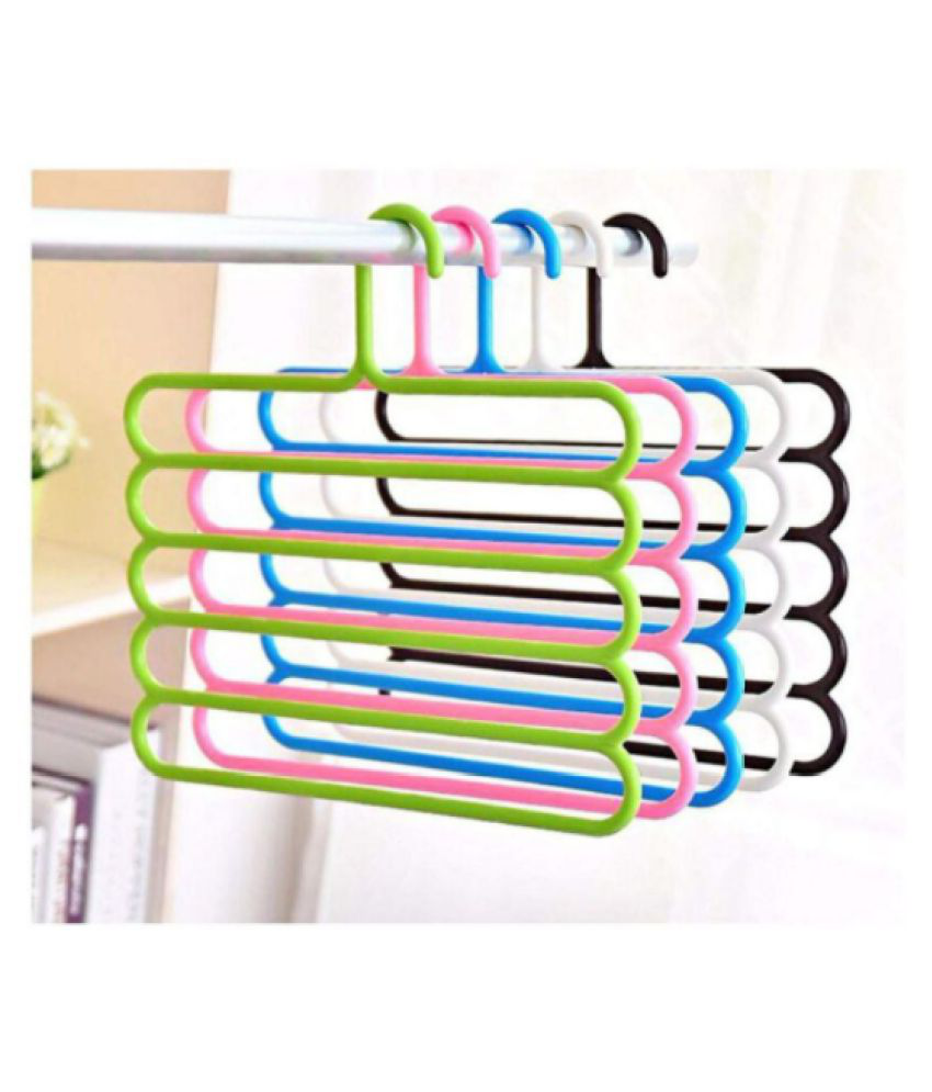 divyam PRESENT MULTILAYE MULTIPURPOSE HANGER PACK OF 10 PCS COLOR AS AVIALABLE