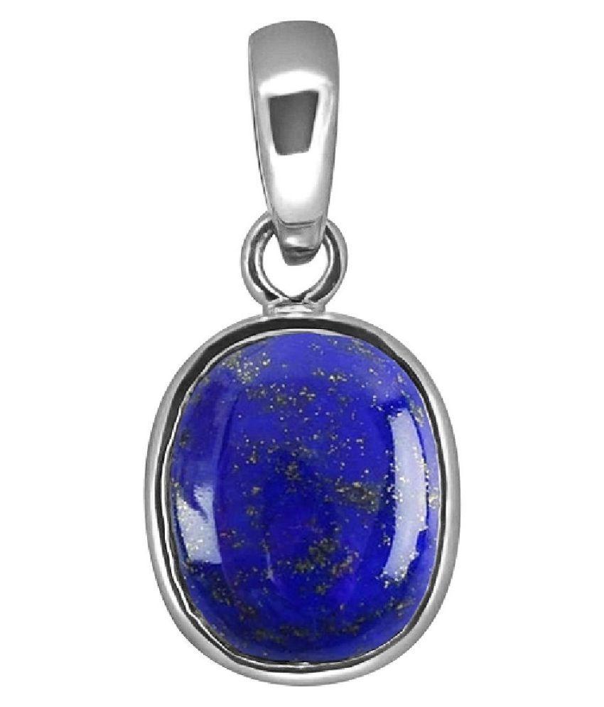 3.5 ratti natural lapis lazuli  Stone pure Silver Pendant