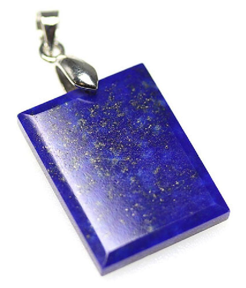4.25 ratti Natural Lab certified Stone silver lapis lazuli  Pendant