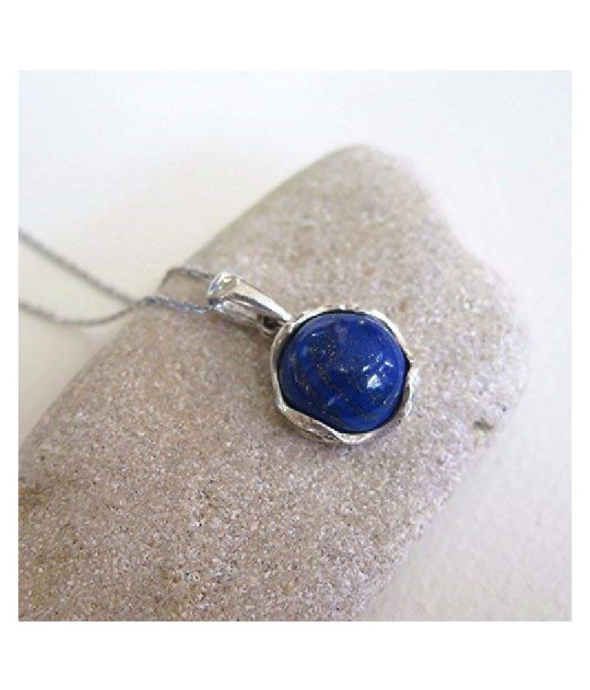 4.5 Ratti Silver Original lapis lazuli  Pendant Lab Certified Stone by Kundli Gems\n