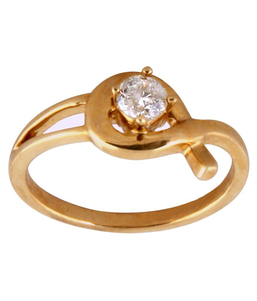 Beautuful Natural Diamond Ring 18KT Yellow Gold for Women