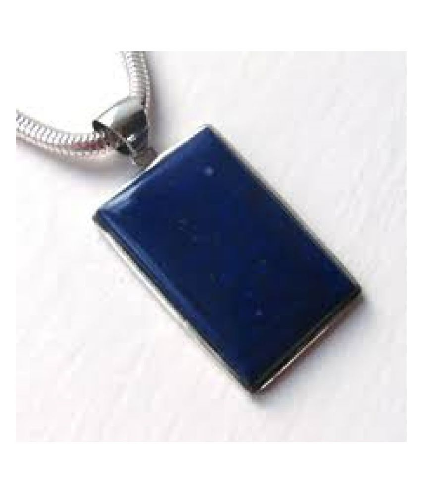 Certified 3.25 Carat silver lapis lazuli  Pendant by Kundli Gems