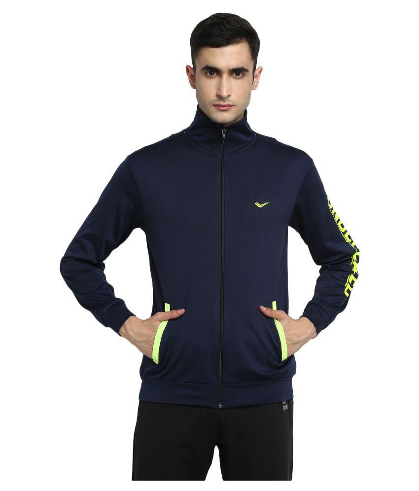 YUUKI Navy Polyester Jacket