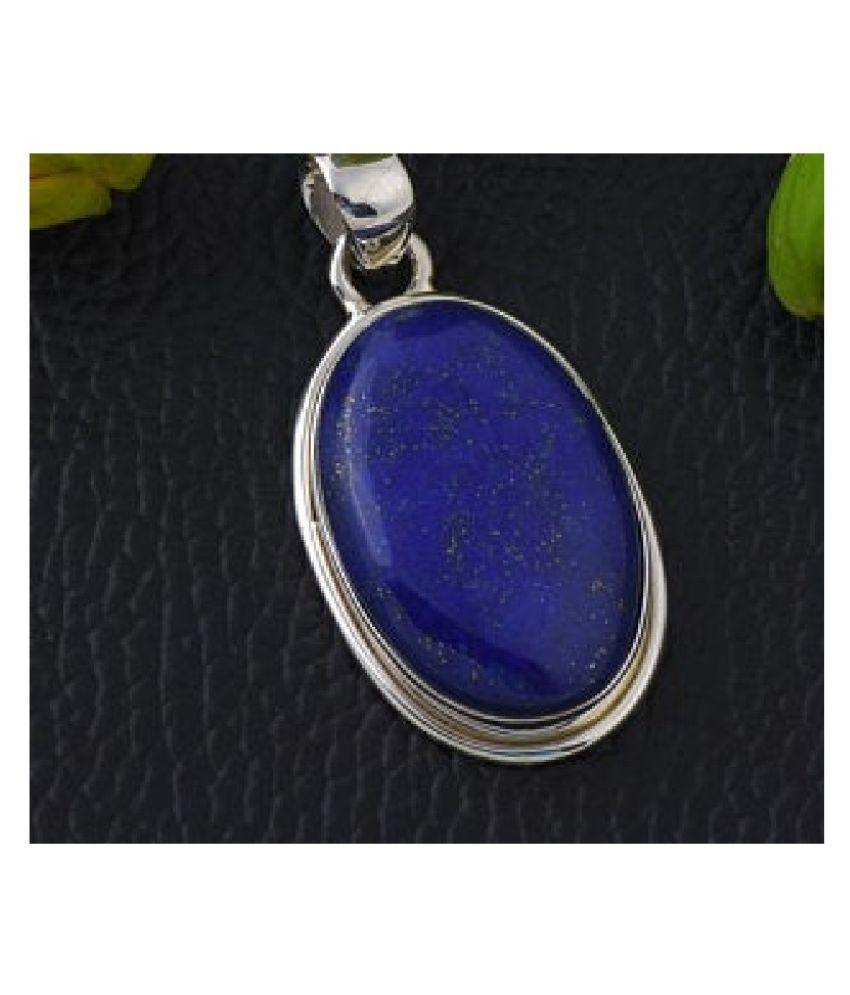 lapis lazuli 6 Ratti 100% Original Gemstone Asthdhatu gold plated Pendant By Kundli Gems