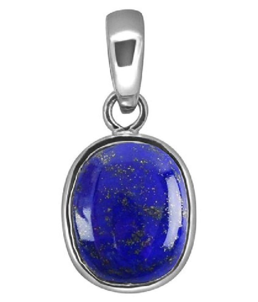 12 carat only Pendantwith Natural lapis lazuli  & Lab Certified silver lapis lazuli  by Kundli Gems