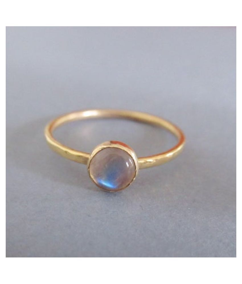 MOONSTONE  Ring 9.25 Ratti 100% Original Gold Plated MOONSTONE  Stone by Ratan Bazaar