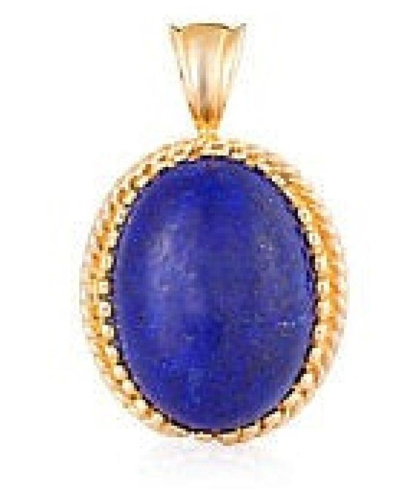 lapis lazuli PendantNatural Unheated Stone 10.5 Carat For Astrological PurposeBy Kundli Gems