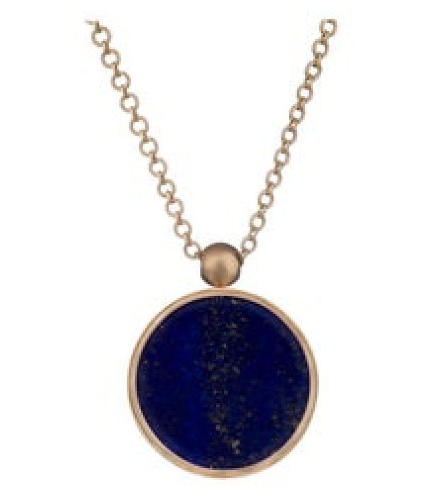 2.50 Original Certified Stone 2.5 Carat Lapis lazuli gold plated Pendant By   Ratan Bazaar