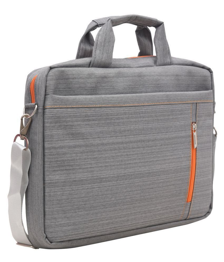 AQUADOR 1480 Grey Fabric Office Bag