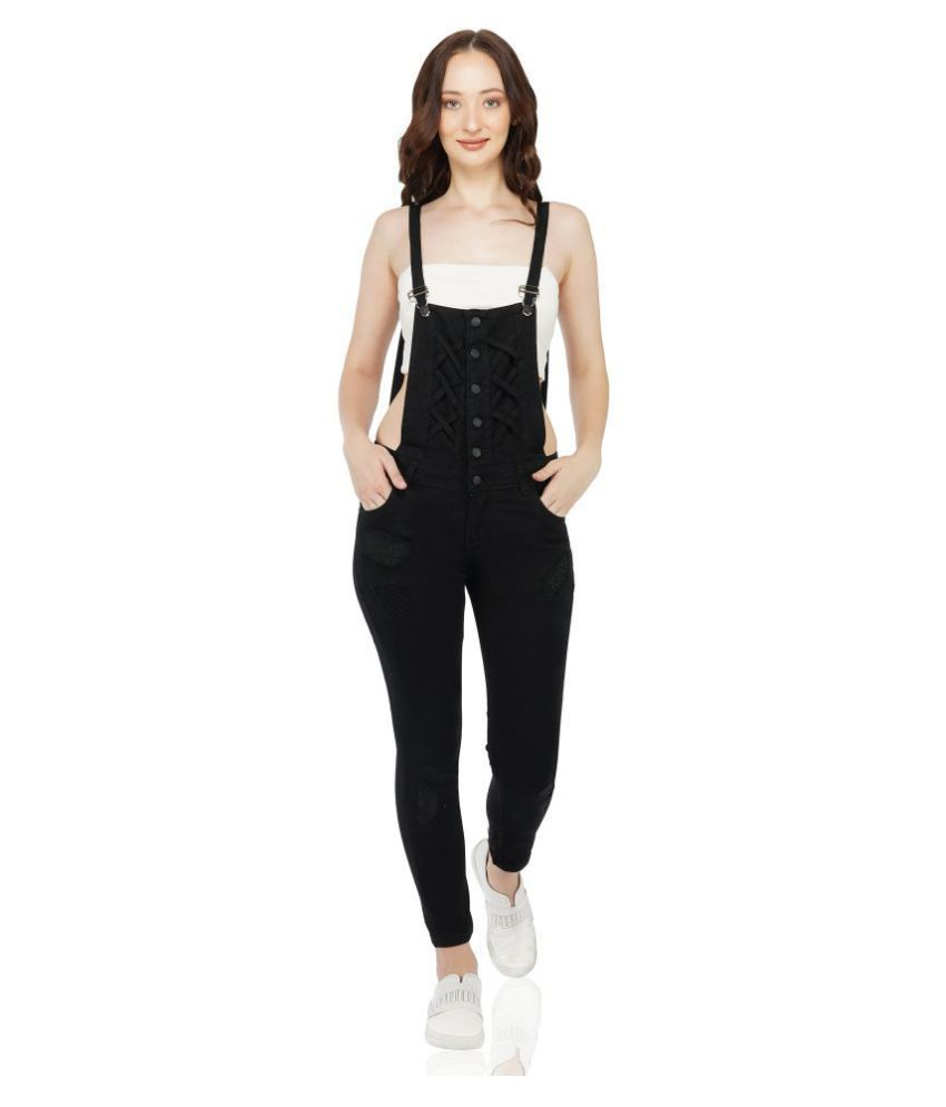 Essence Black Denim Jumpsuit