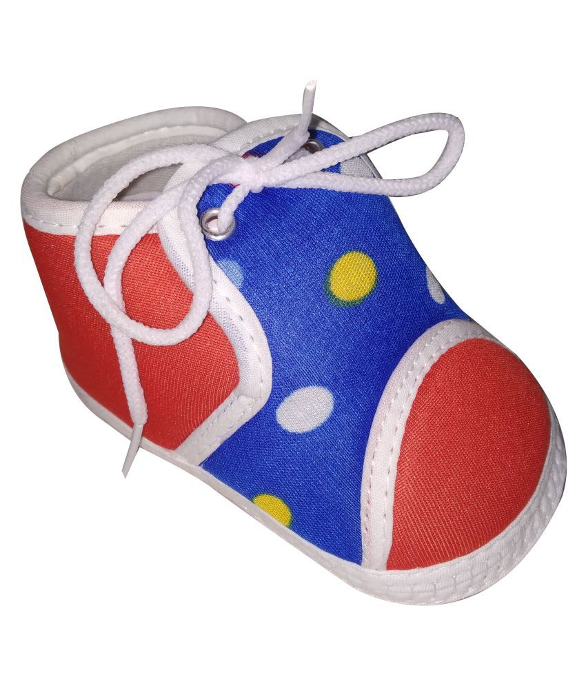Kiddoz blue Color Cotton Baby Boy And Baby Girls Shoes/Booties For 6 to 12 Months
