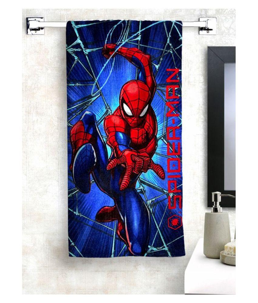 Marvel Single Cotton Bath Towel Blue
