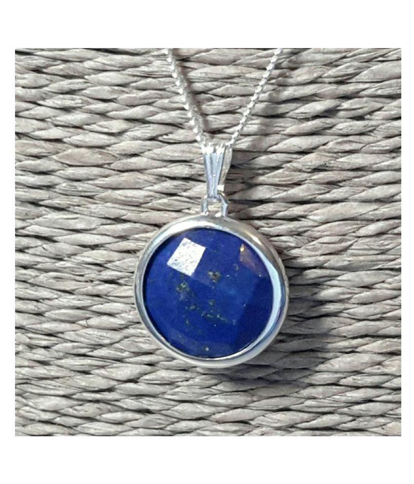9.5 ratti natural lapis lazuli  Stone pure silver Pendant for unisex by  Ratan Bazaar\n