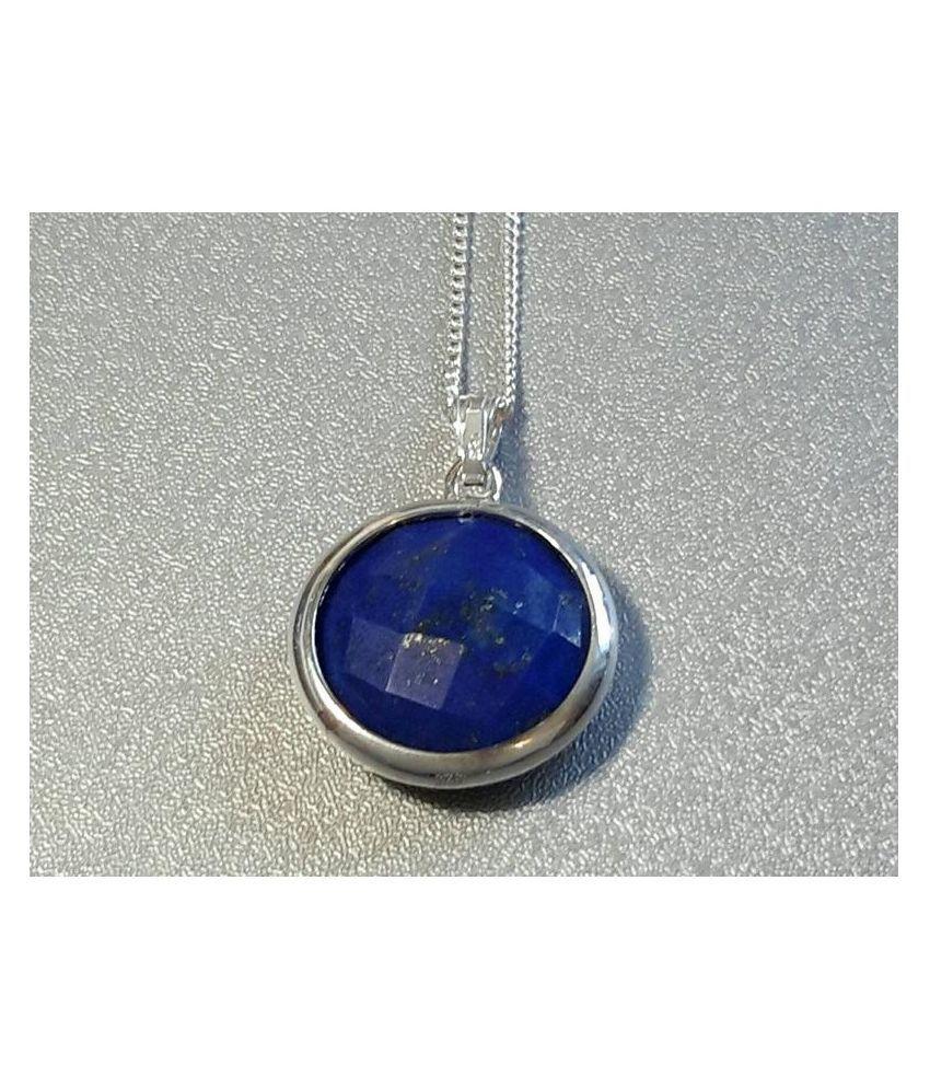 9 carat pure lapis lazuli  silver Pendant by  Ratan Bazaar \n