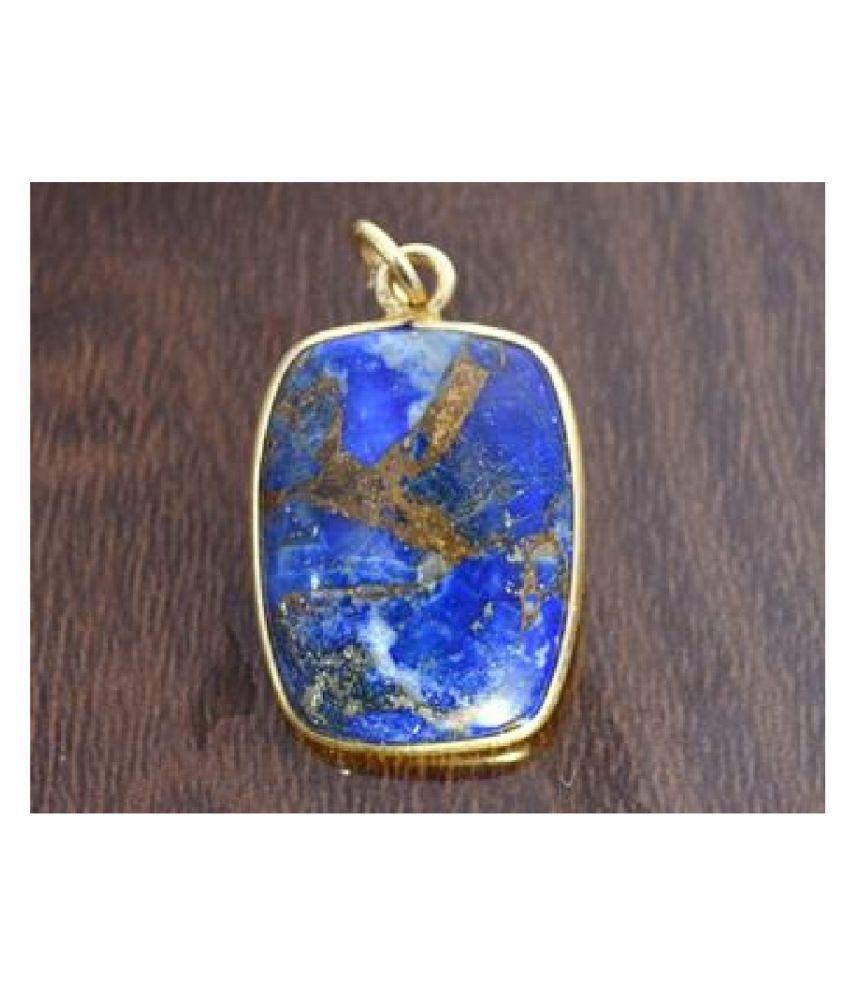 lapis lazuli Panchdhatu  10 Carat  gold plated Pendant By  Ratan Bazaar