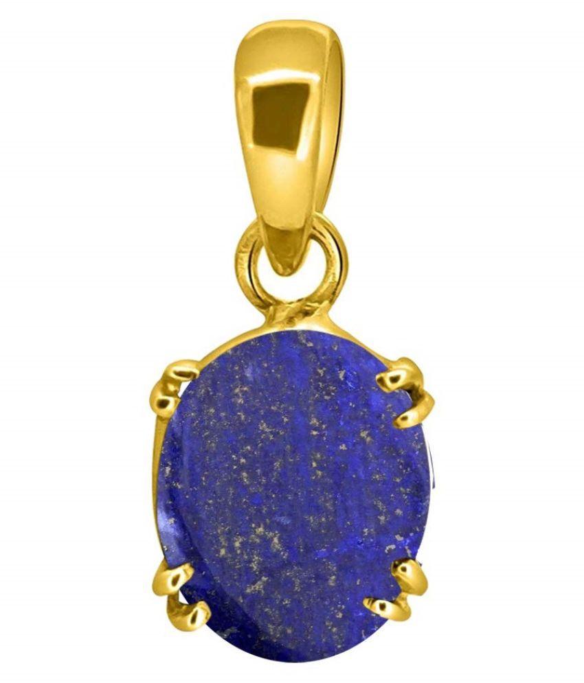 12.25 ratti Natural Lapis Lazuli Lazwart lajward Pendant for Women gold Plated Pendant by   Ratan Bazaar