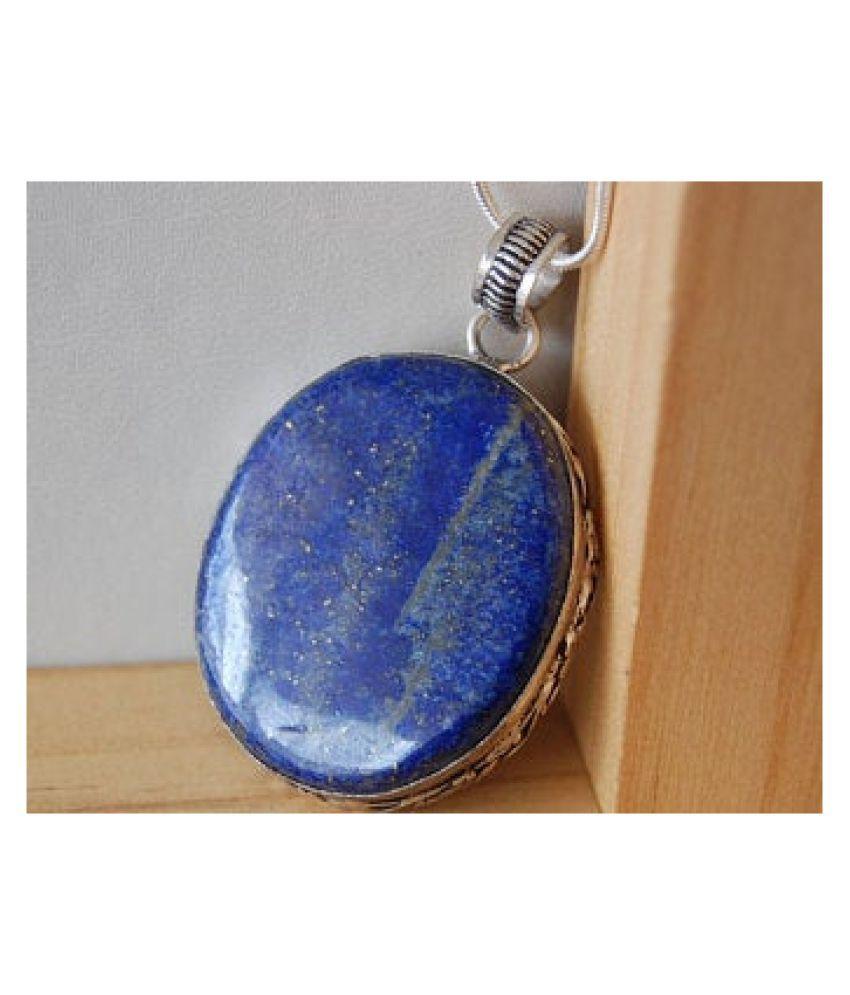 12.5 ratti silver  lapis lazuli  Pendantfor unisex by  Ratan Bazaar\n