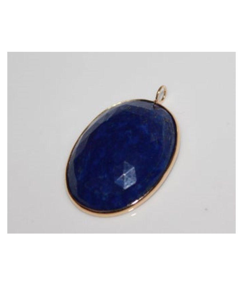 Natural Lapis lazuli Stone 12.5 Ratti Gemstone gold plated Pendant Original Lab Certified By  Ratan Bazaar