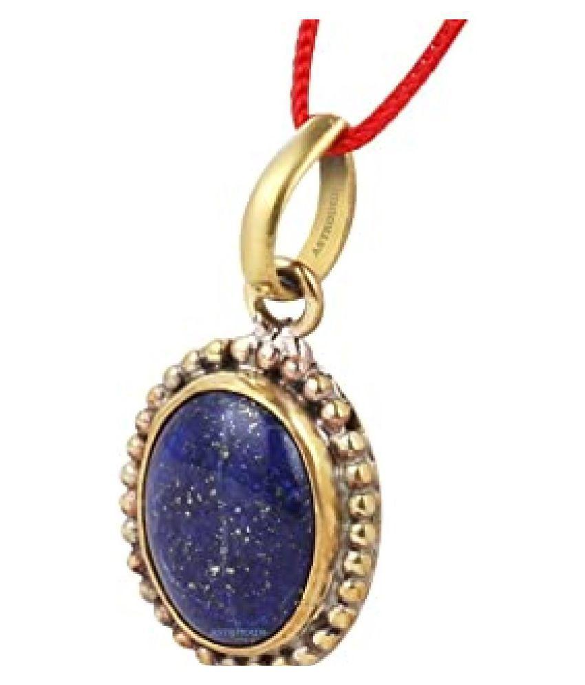 Natural Lapis lazuli Stone 12.5 Ratti 12.50 Certified gold plated Pendant By  Ratan Bazaar