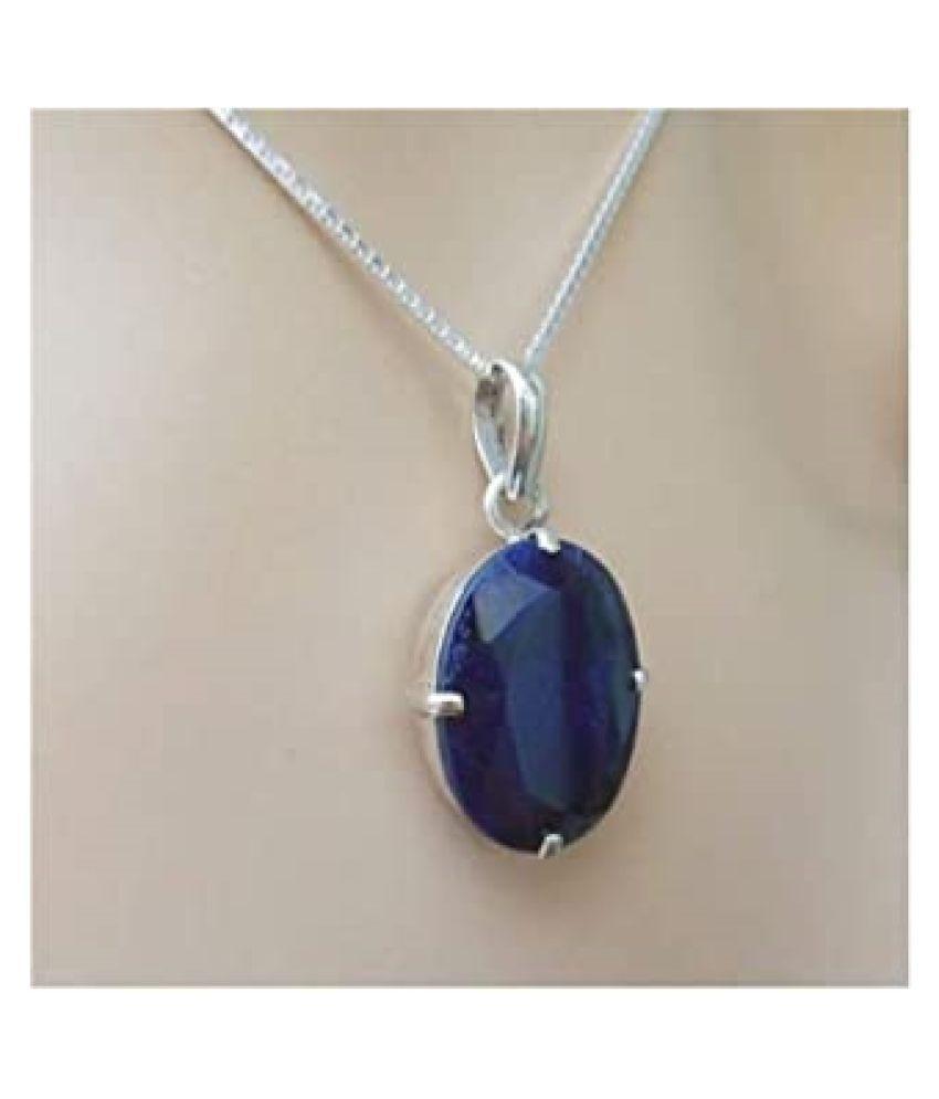 Natural lapis lazuli  12.25 Carat silver Pendant by   Ratan Bazaar\n