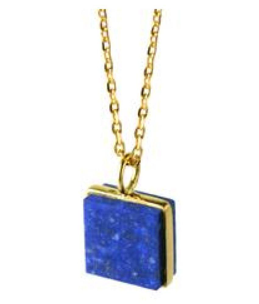 lapis lazuli Pendant Stone 12.5 Ratti gold plated Pendant  Natural Stone By  Ratan Bazaar