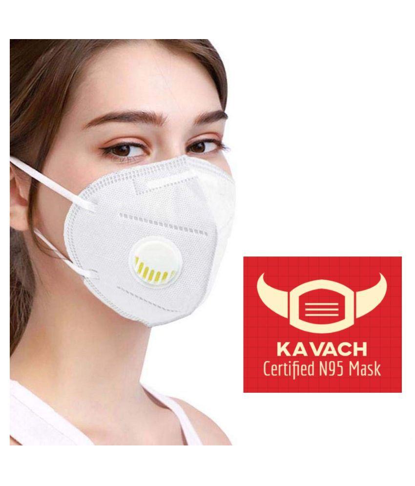 Kavach KAVACH N95+ Masks Pack of 5 N95 Mask