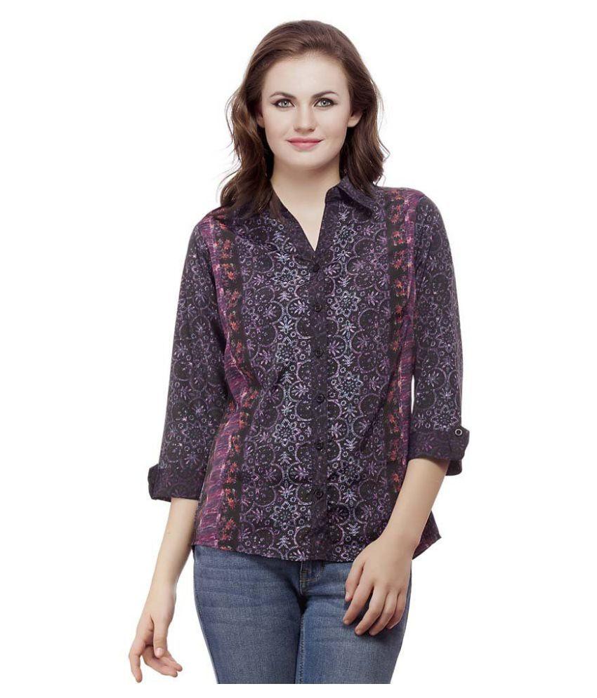 MASK lifestyle Purple Poly Crepe Shirt