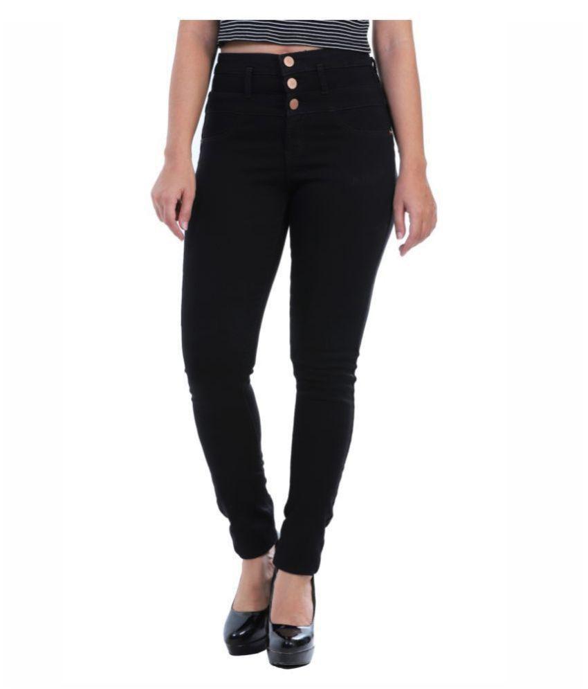 Sisney Cotton Lycra Jeans - Black