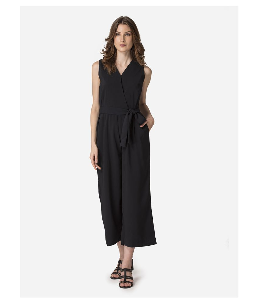 Mode By Red Tape Black Polyester Jumpsuit