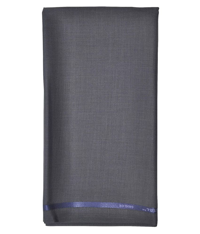 RAMAVO Grey Poly Blend Unstitched Pant Pc