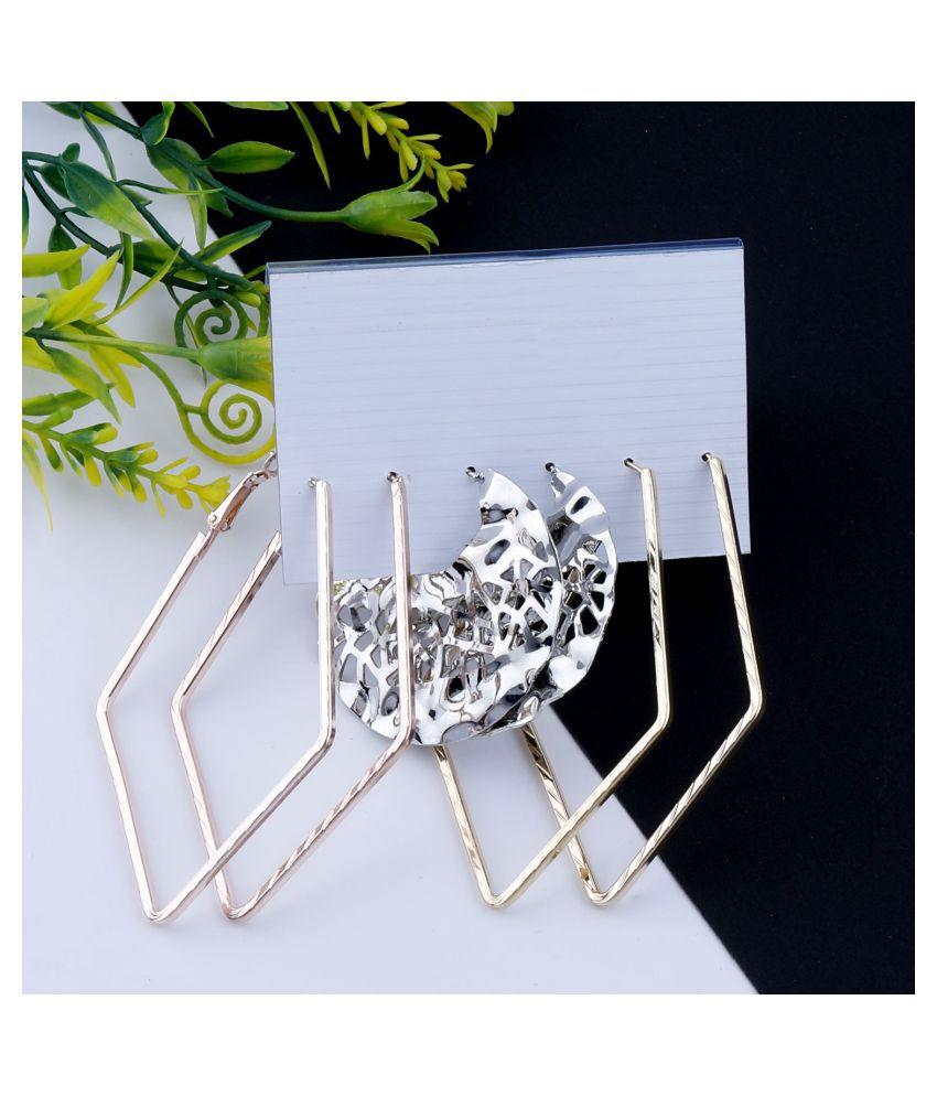 Stylish Fashion Earring Set  3 Bali dangle drop earring  Set  For Women Girls