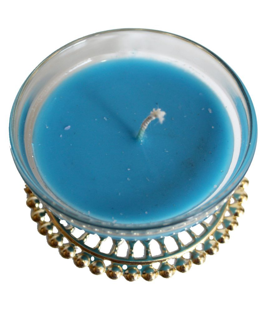 AYRON Blue Wax Tea Light - Pack of 5