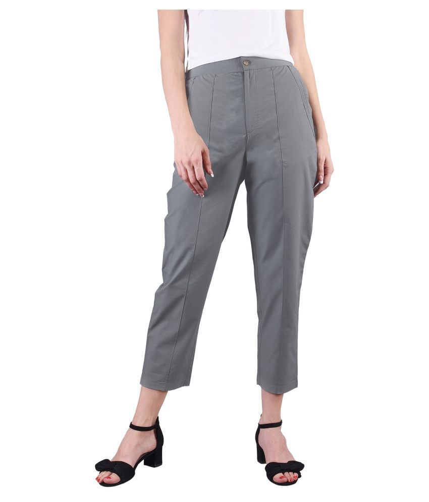 Created in India Cotton Jeggings - Grey