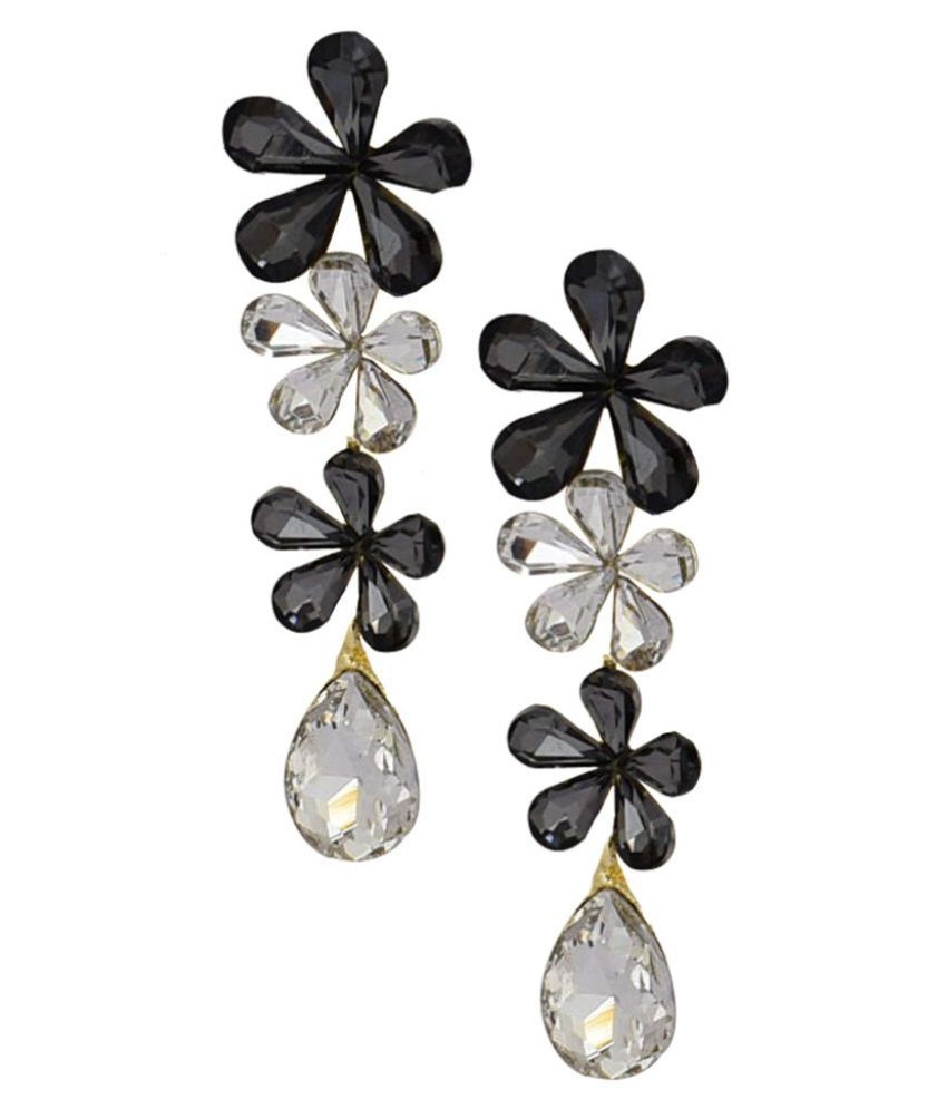 Jaishree Jewels Crystals Black Earings for Women and Girls