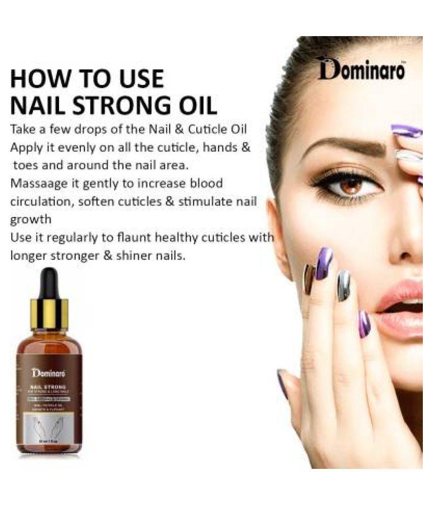 Dominaro Nail & Growth Oil- For Nail Growth, Nail Polish Yellow Glossy 30 mL