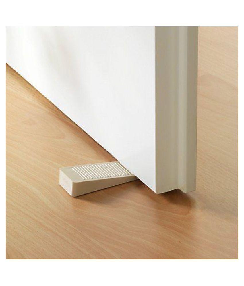 Pindia Set Of 4Pc Non-Slip Rubber Stackable Door Stopper Door Block Wedge / Door Jammer Guard
