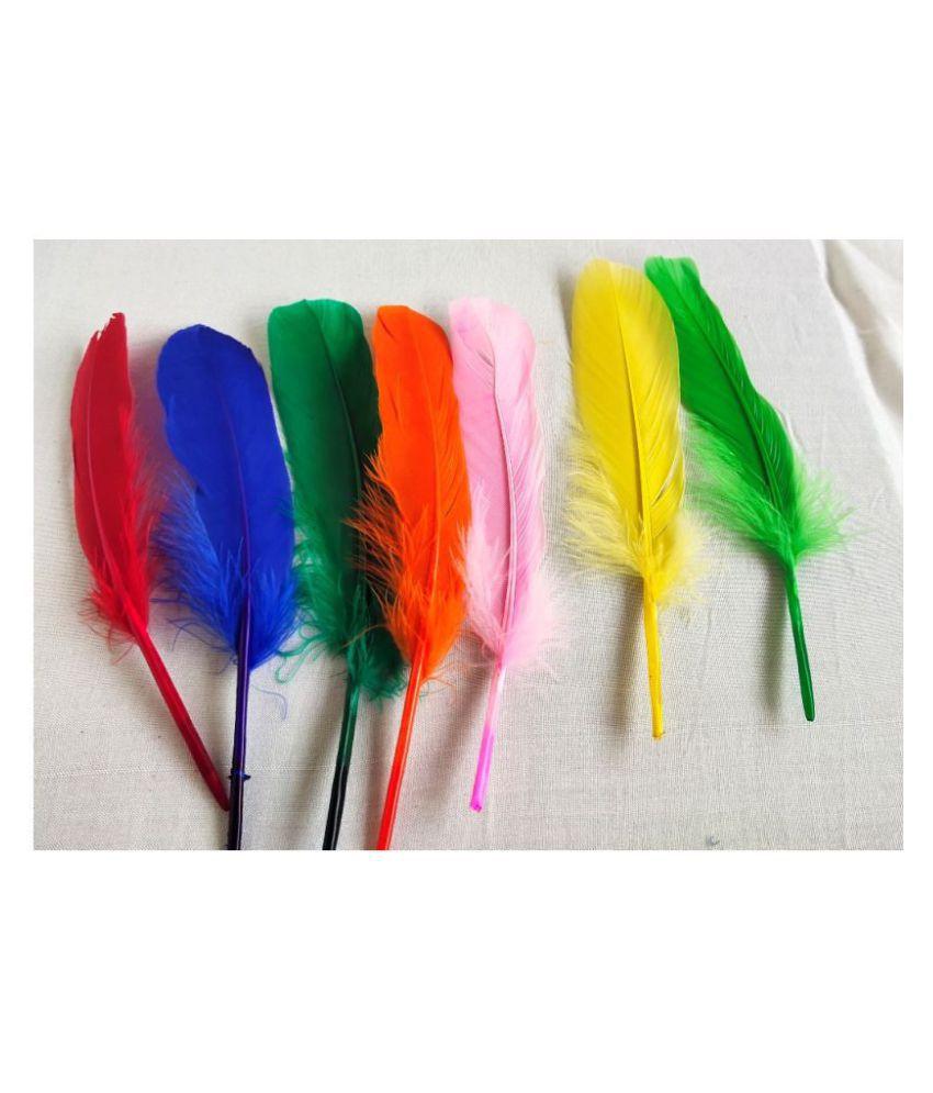 36Pcs Multi Color Artificial Feather For Decoration