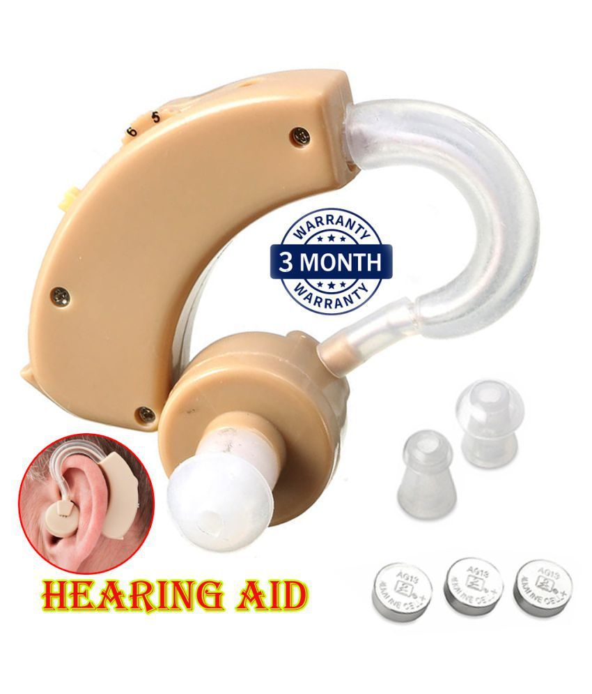 ONIC SOUND AMPLIFIER BEHIND THE EAR Hearing Aid  (Beige) Mini Hearing machine for Ear