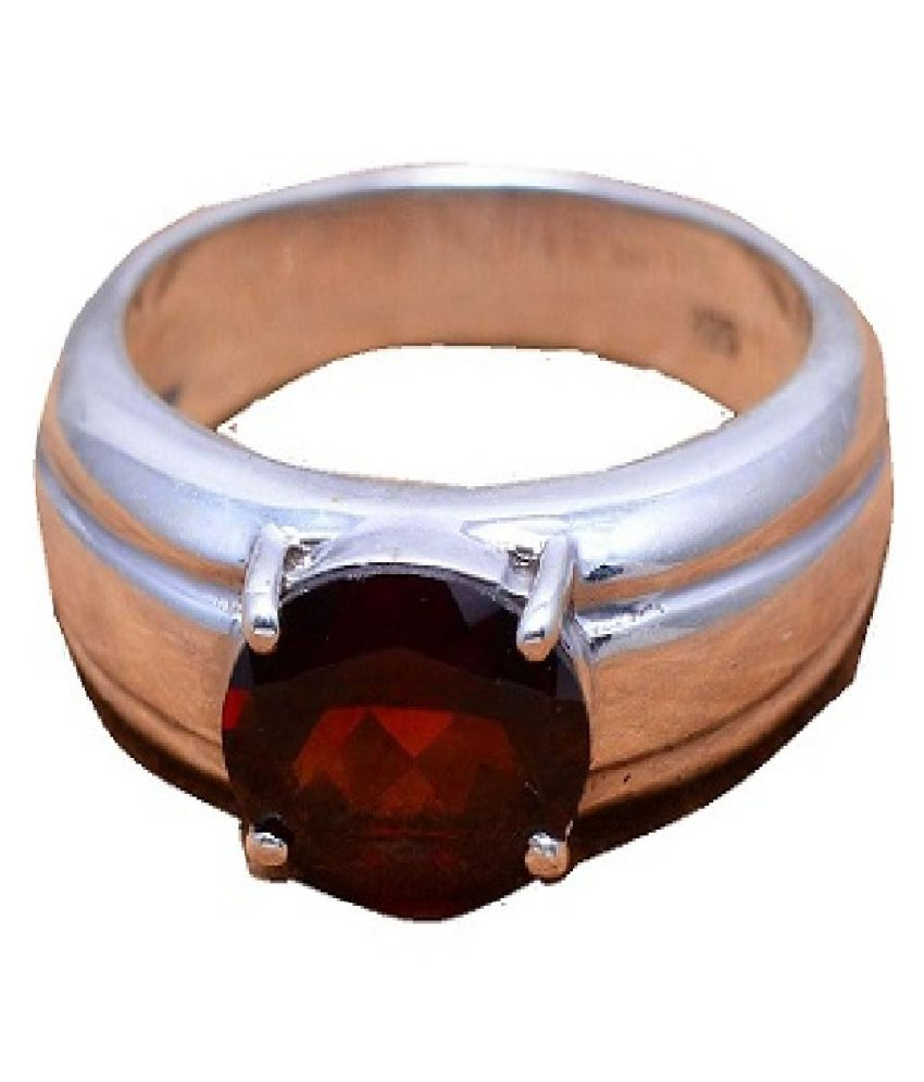 7.0 ratti Gomed/Hessonite Ring Original & Natural Stone Ring Gomed Ring For Astrological Purpose BY Ratan bazaar
