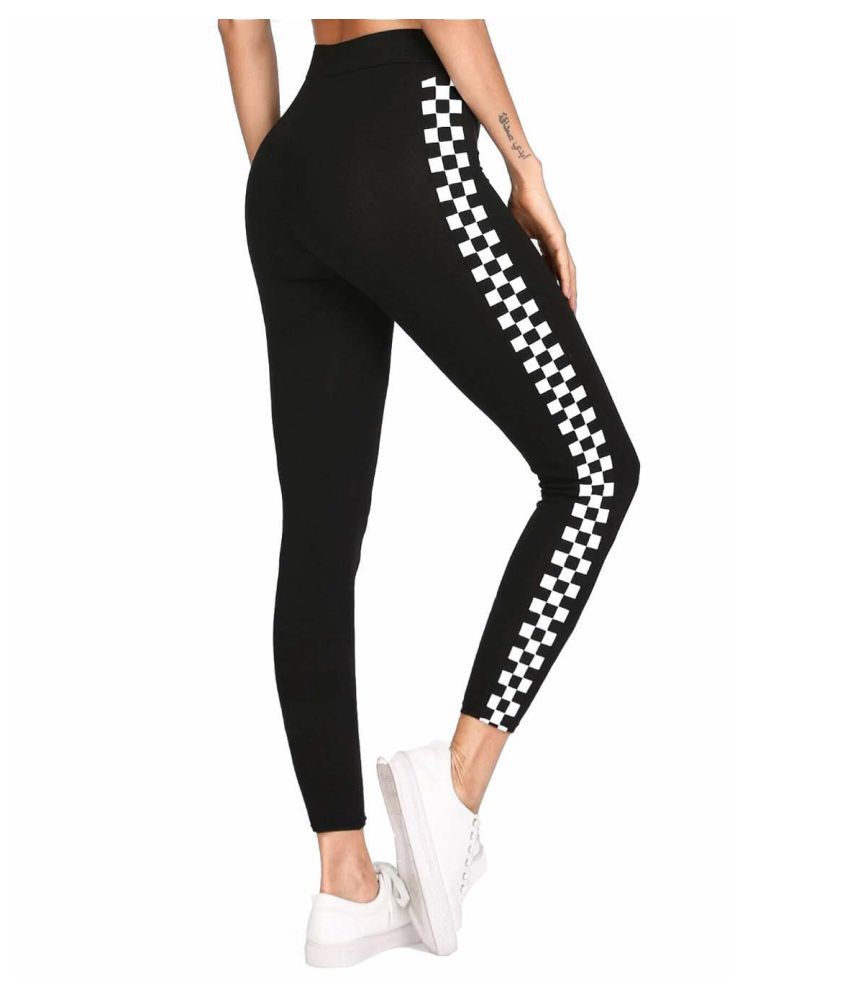 Cutext Fashion Polyester Jeggings - Black