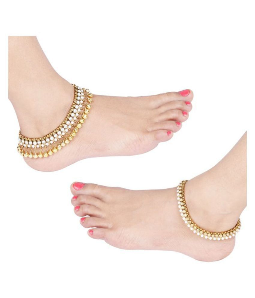 Designer Traditional  Anklet Wedding Jewellery  For Women Girls Set-2