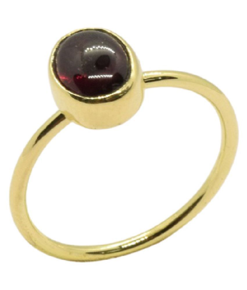 Natural 9.25 carat Gomed Gold Plated Finger Ring Unheated & Untreated Stone Gomed Finger Ring For women & Men Ratan bazaar