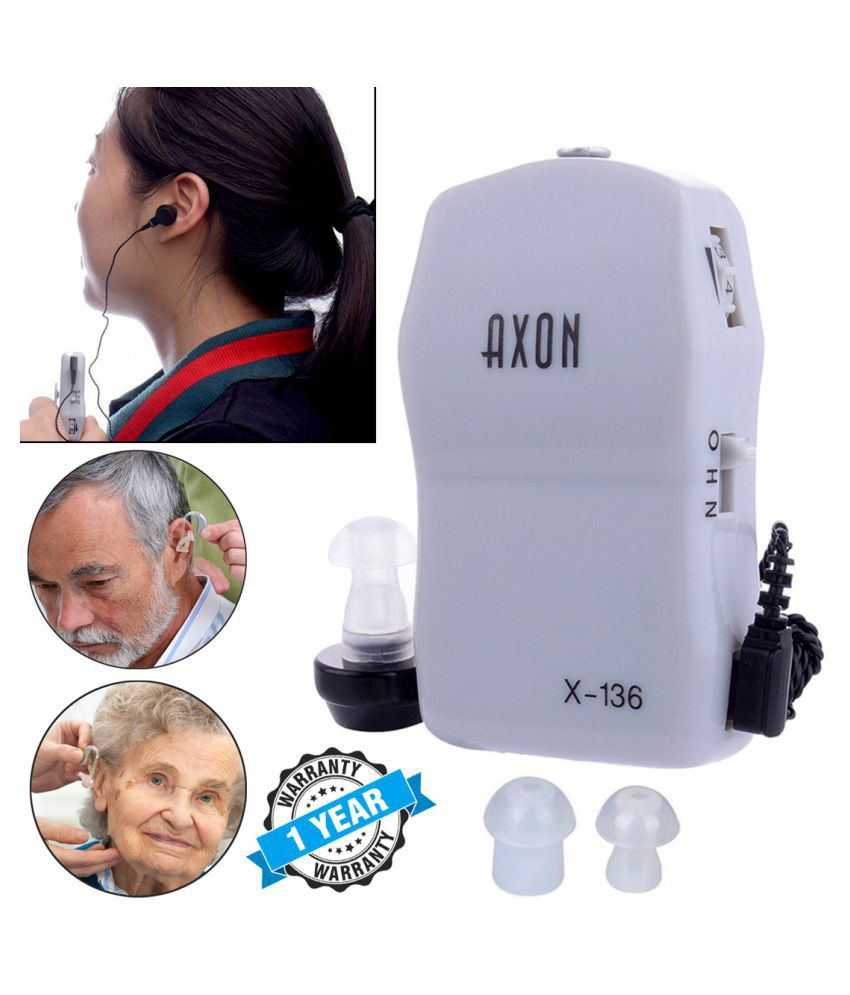 ZY Pocket Wired Hearing Aid Sound Voice Enhancement Amplifier Sound Booster Hearing Aid 1 Year Warranty