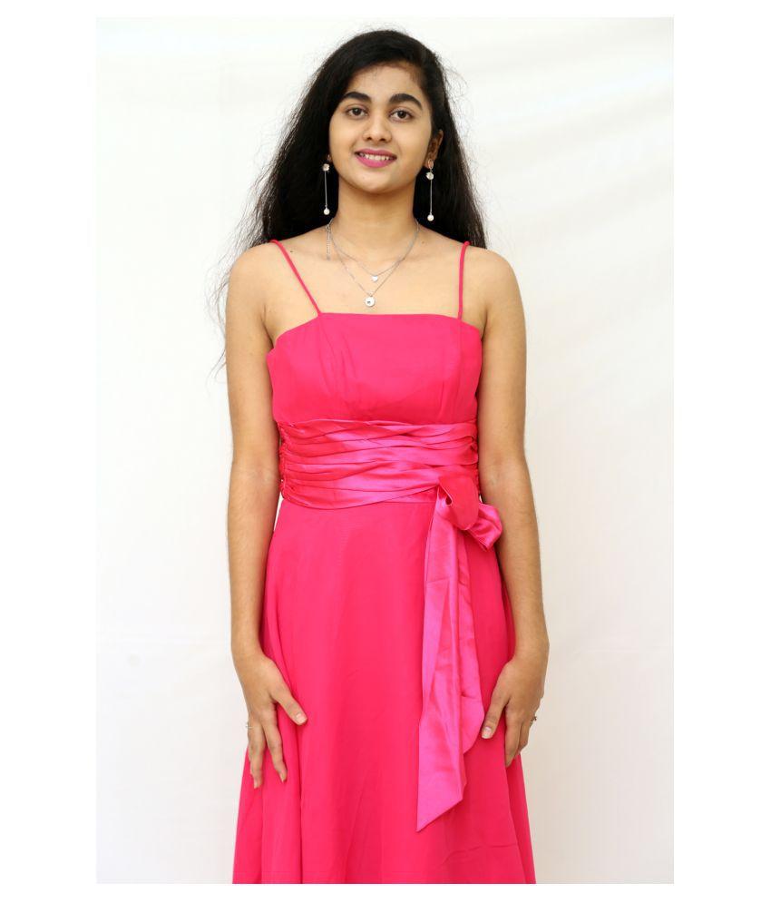 ARRICK FASHION Silk Pink Bodycon Dress