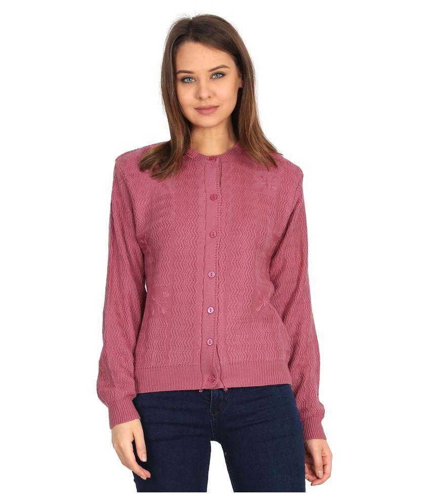 Urban Studio Woollen Multi Color Non Hooded Sweatshirt